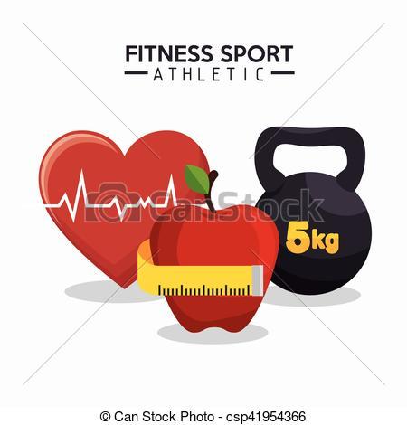 Sport clipart heart Barbell heart fitness athletics of