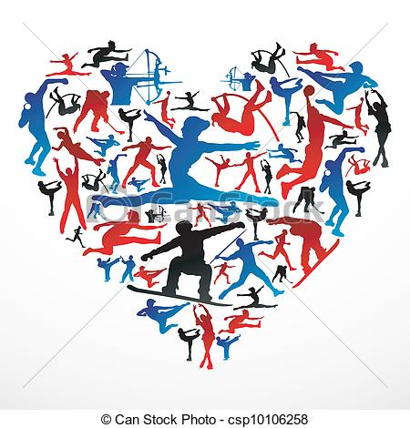Sport clipart heart Of Clipart sports csp10106258 Action