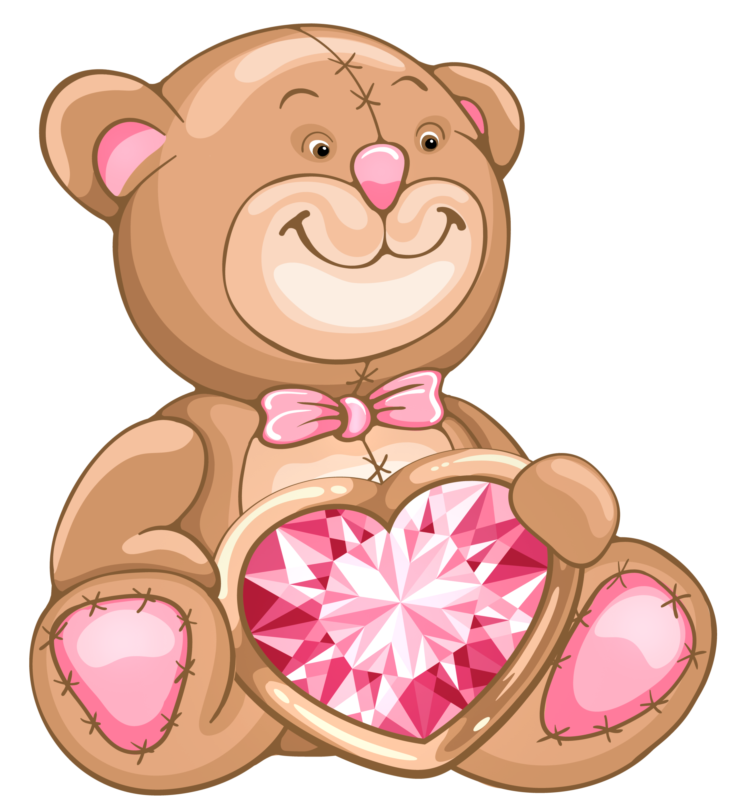 Teddy clipart valentines day teddy bear Full with Diamond View PNG