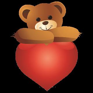 Teddy clipart cute heart #5