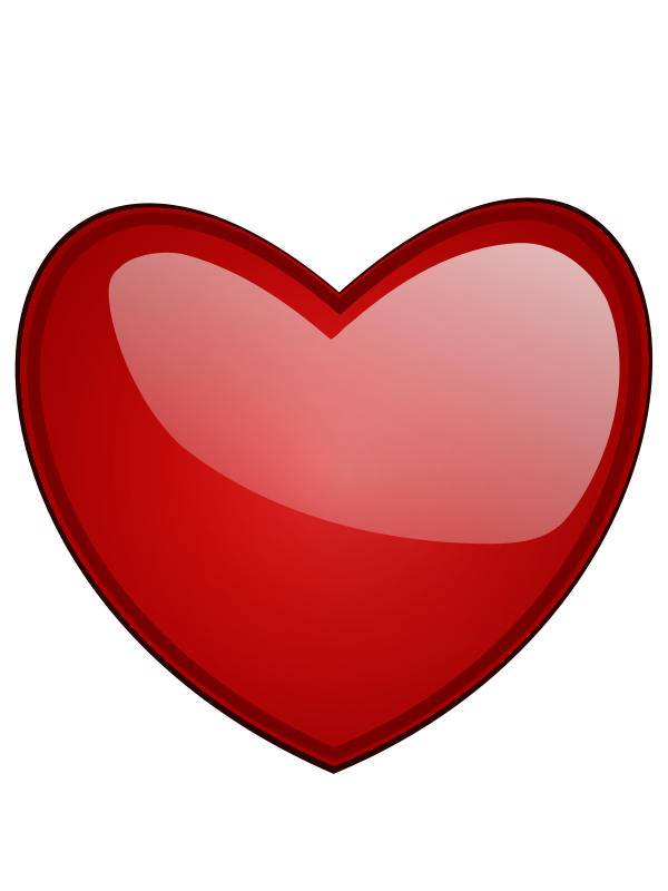 Hearts clipart heart outline Heart Panda With Clipart Clipart