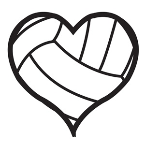 Hearts clipart volleyball  Heart Volleyball Tattoos Temporary