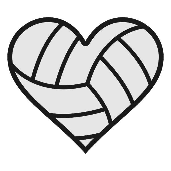 Hearts clipart volleyball Monogram Volleyball Designs Hearts Designs