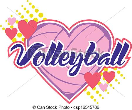 Hearts clipart volleyball Hearts volleyball Illustrations 086 Clip