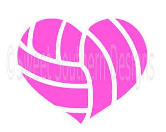 Hearts clipart volleyball For Volleyball or Heart design