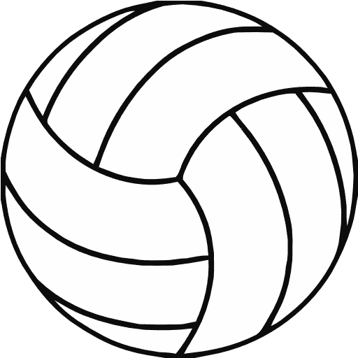 Heart clipart volleyball Art Clip Volleyball Outline
