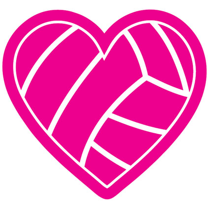 Hearts clipart volleyball  Clipart Volleyball Shaped Heart