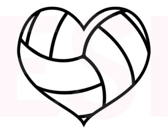 Heart clipart volleyball Use Silhouette Etsy and Volleyball