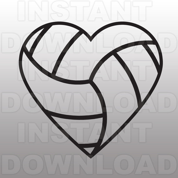Hearts clipart volleyball Image Volleyball Clipart Heart Volleyball