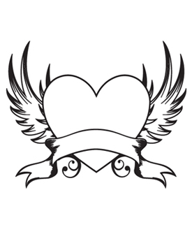 Wings clipart easy  heart Google with with