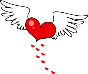 Hearts clipart trail With Clip Clipart Angel Heart
