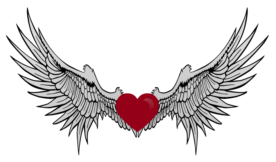 Wings clipart winged heart Art With Hearts Clip With