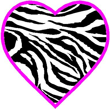 Zebra clipart hearts ZEBRA BACKGROUND Pinterest (383×382) 2