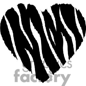 Zebra clipart hearts Wild Heart Clipart Clipart Heart
