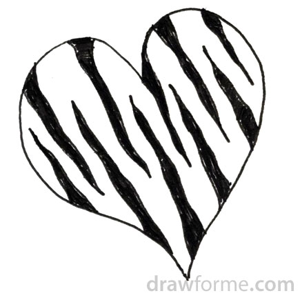 Zebra clipart hearts For Me Draw print heart