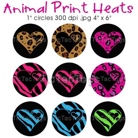 Circle clipart zebra print Animal Circles Print Leopard Digital