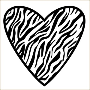 Zebra clipart hearts Stencil Decal Heart zebra De