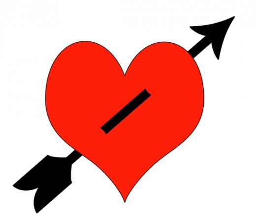 Hearts clipart arrow clip art Heart clip Hearts; Collection Black