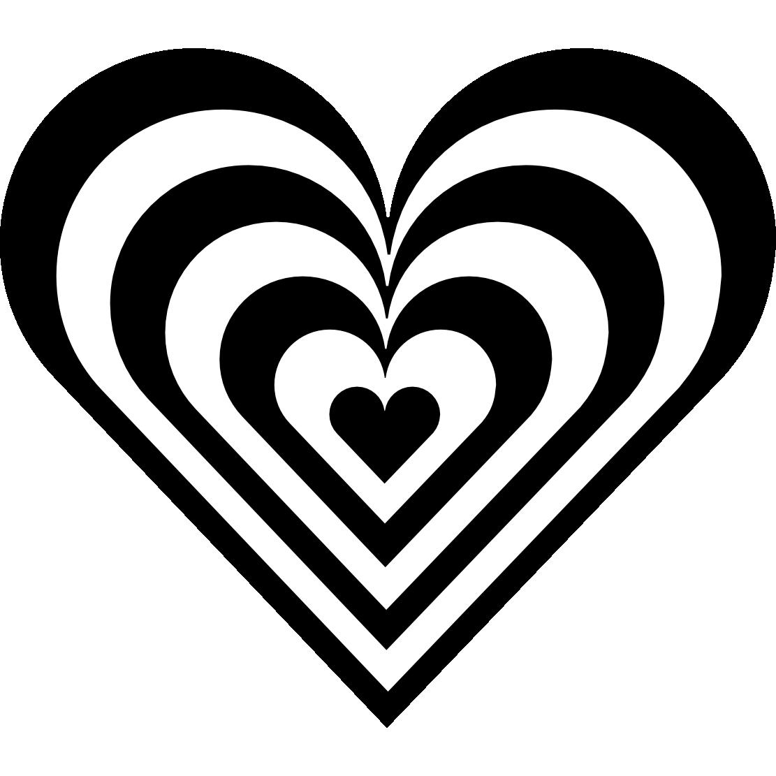 White clipart love heart Clipart Free Black Heart Clipart