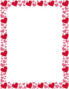 Hearts clipart border Free and Red clip Border