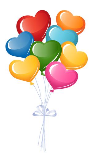 Hearts clipart bunch Heart Heart Balloons balloons Heart