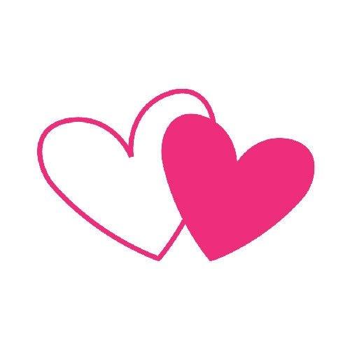 Hearts clipart double heart Clipart Double Hearts Hearts Pink