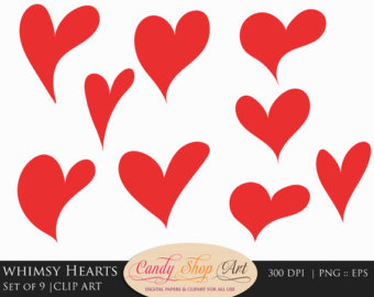 Hearts clipart drawn heart Heart Heart Clipart Clipart Whimsy