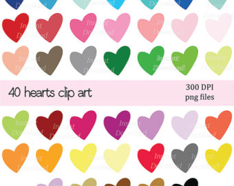 Hearts clipart drawn heart Icons Hearts Clipart Hearts Heart