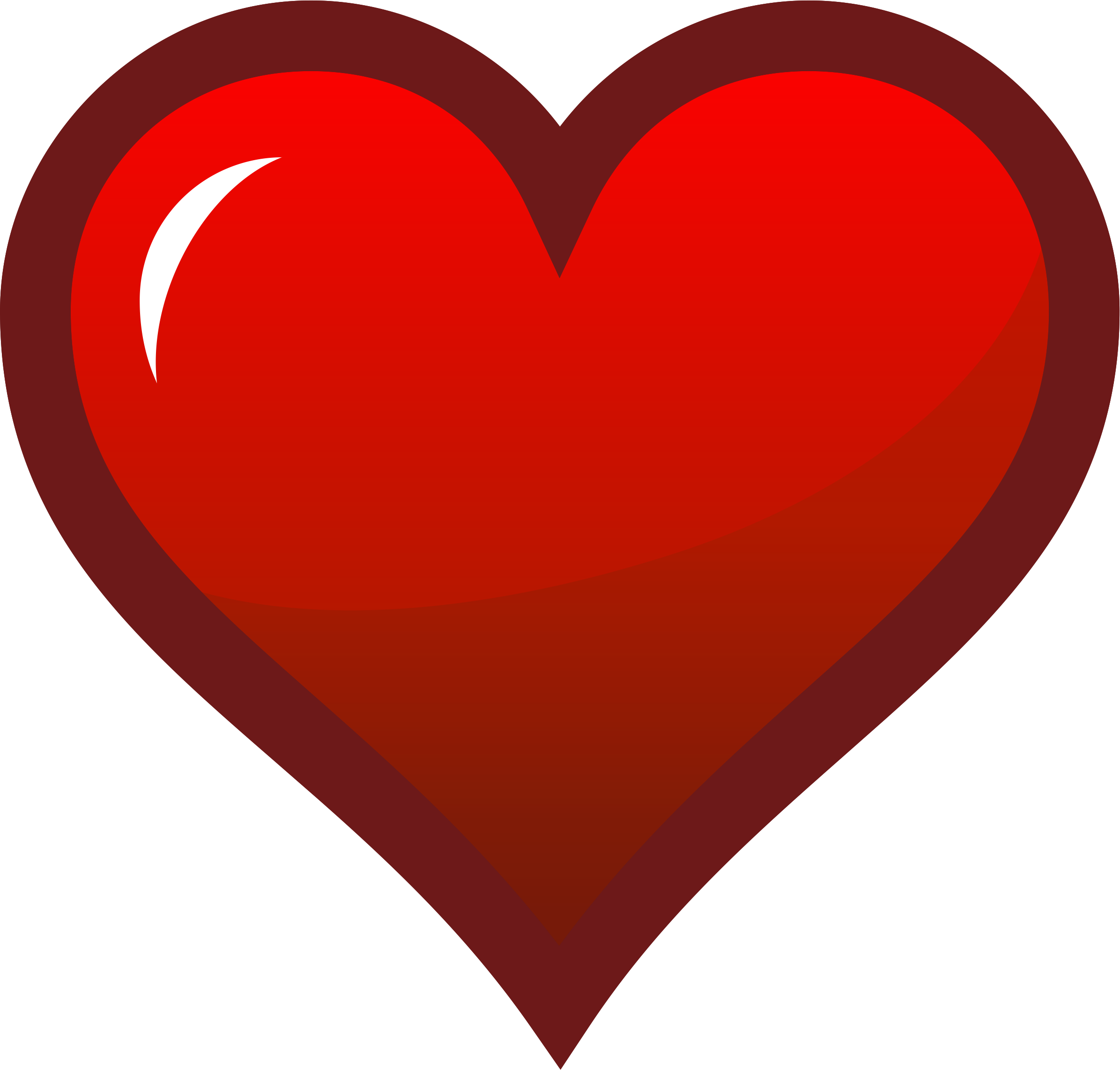 Hearts clipart icon Icon Red Heart Clipart Red