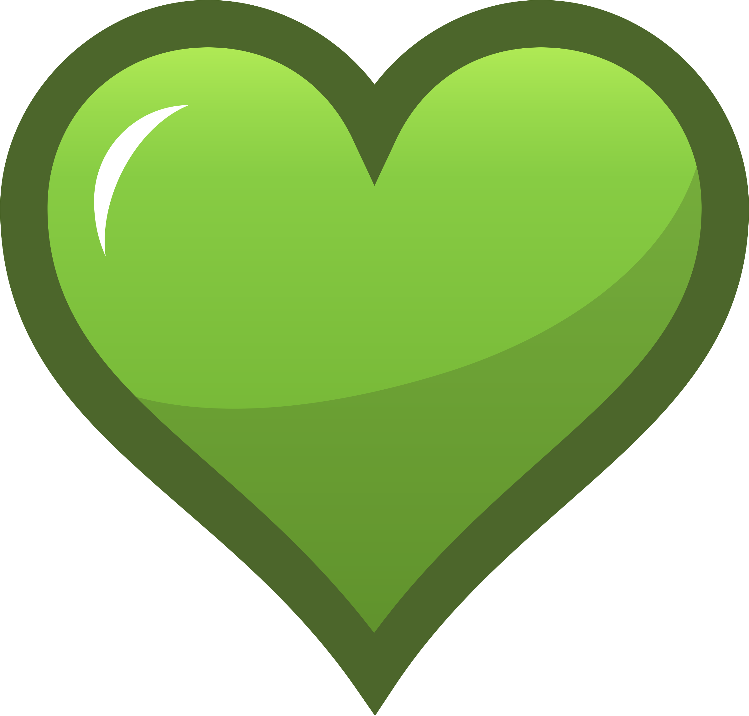 Hearts clipart icon Icon Green Heart Clipart Green