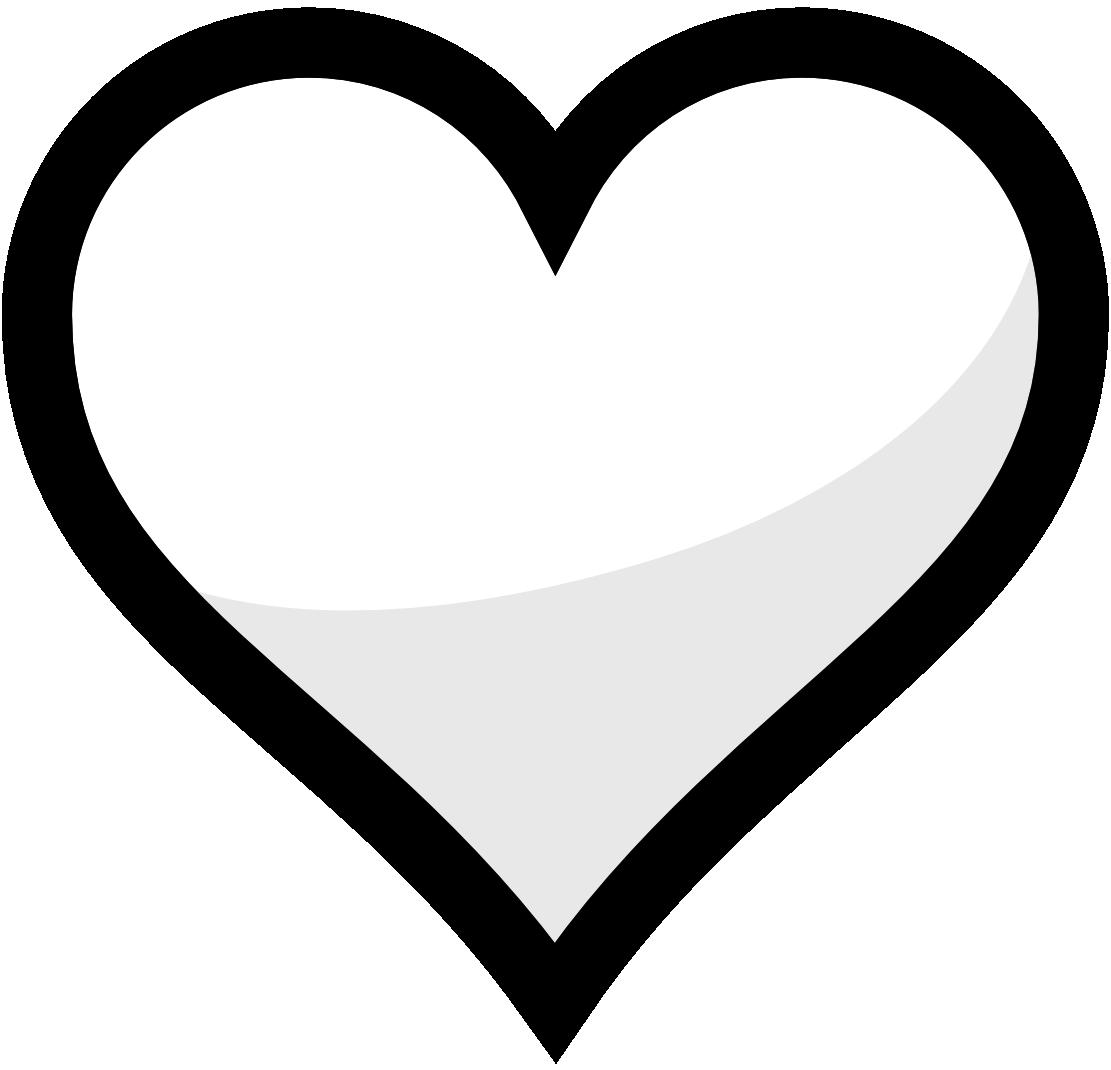 Hearts clipart icon Clipart orange%20heart%20clipart White Black Panda