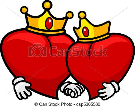Hearts clipart king and queen Hearts of of and of