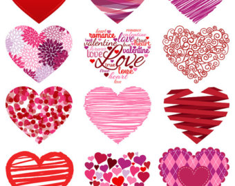 Hearts clipart line art Dangling Commercial Clipart Art Hearts