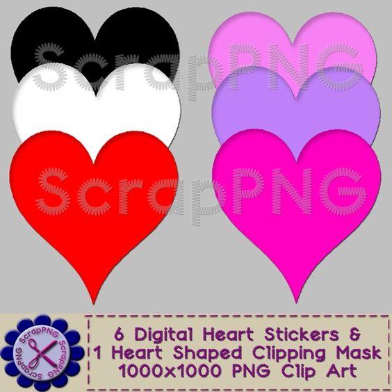 Hearts clipart lot 00 Art Digital  Art