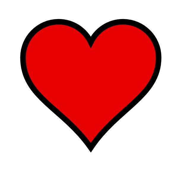 Hearts clipart mini heart Clip Thick Hearts Art Heart