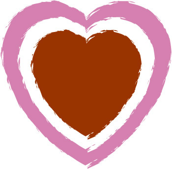 Hearts clipart rustic heart Heart graphic double Double mini