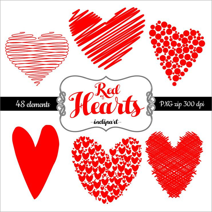 Hearts clipart scribbled Clip This Clipart is Heart
