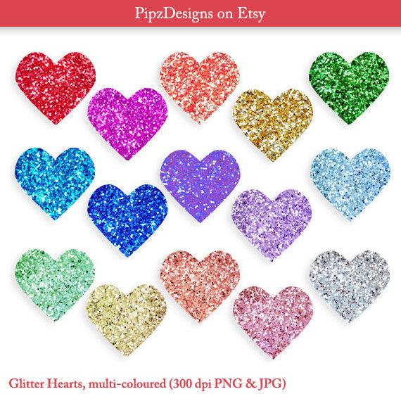 Hearts clipart silver glitter Clip Heart Glitter art &