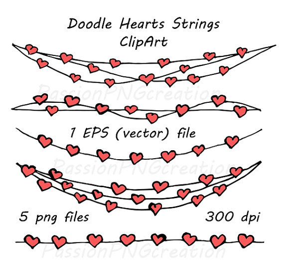 Hearts clipart string heart Heart Strings item? Digital ClipArt