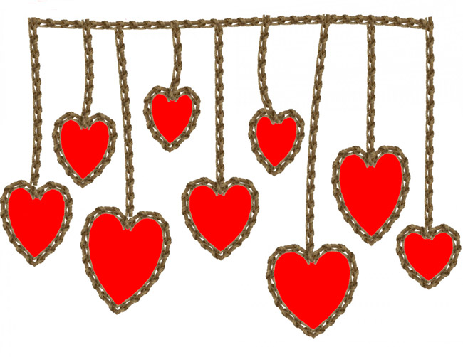 Hearts clipart string heart String on clipart Clipart a