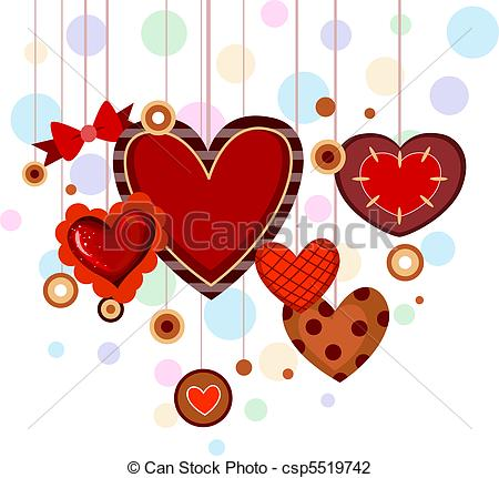Hearts clipart string heart Strings of csp5519742 of Heart