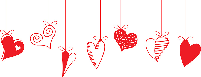 Hearts clipart string heart Decorative & Art Cliparts Illustrations
