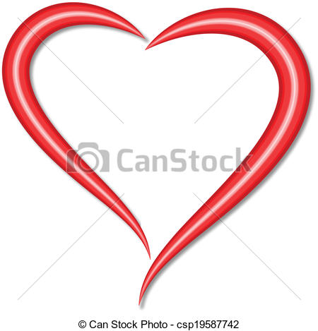 Hearts clipart stylised Of Art heart csp19587742 heart