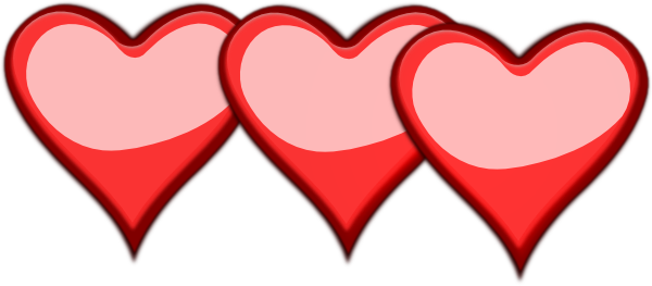 Hearts clipart three Download com online Hearts Three