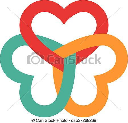 Hearts clipart three Three interlaced  Clip csp27268269
