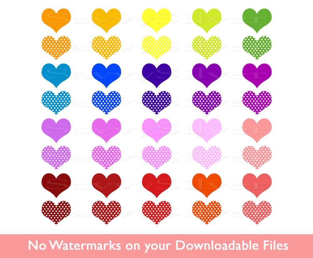 Hearts clipart tiny heart Digital Art Rainbow Colorful Heart