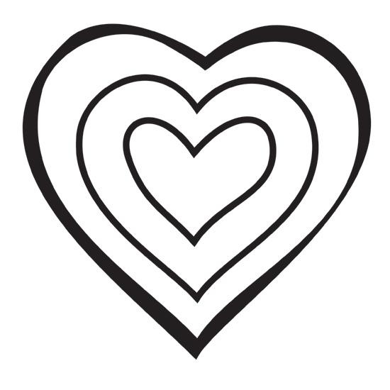 Hearts clipart triple Stamp Heart Design 10mm Design