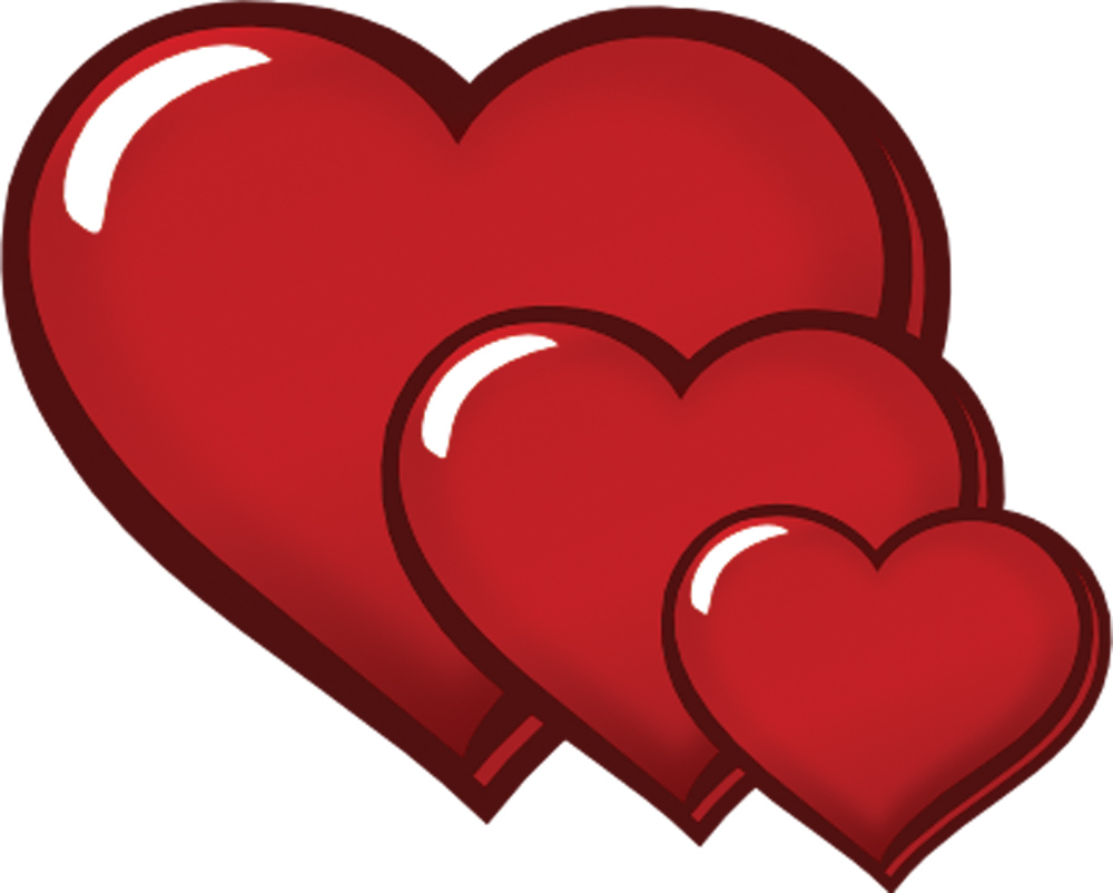 Hearts clipart triple Gannon Free three Gannon Free
