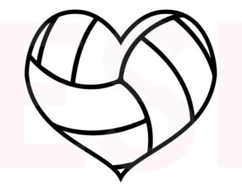 Hearts clipart volleyball Cliparts Heart Zone Outline Volleyball