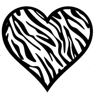 Zebra clipart hearts Heart Clipart (32+) Zebra clipart